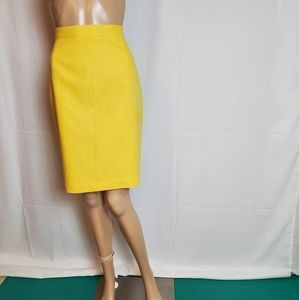 Bridgewater Classic Yellow Midi Skirt size 4 P